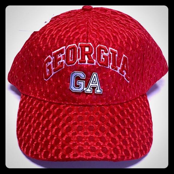3308911c1ec046 Accessories | Georgia Bulldogs Adjustable Red Ncaa Sec Hat | Poshmark